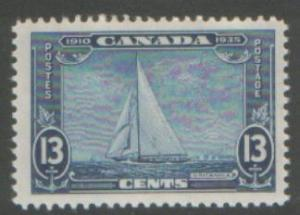 CANADA 1935 SILVER JUBILEE 13c SHIP SG340 HINGED MINT