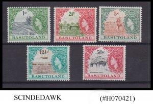 BASUTOLAND - 1961-63 QEII SCOTT#73,75,77,79 & 81 - 5V - MINT NH