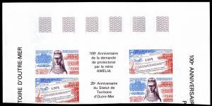 WALLIS & FUTUNA C147A PAIR IMPERF  SCV $35.00 BIN $20.00