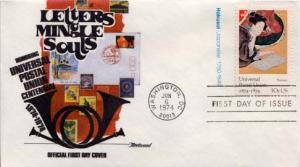 United States, First Day Cover, U.P.U. Universal Postal Union, Art