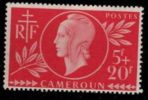 Cameroun Scott B28  MNH** 1944 Red Cross semi-postal stamp