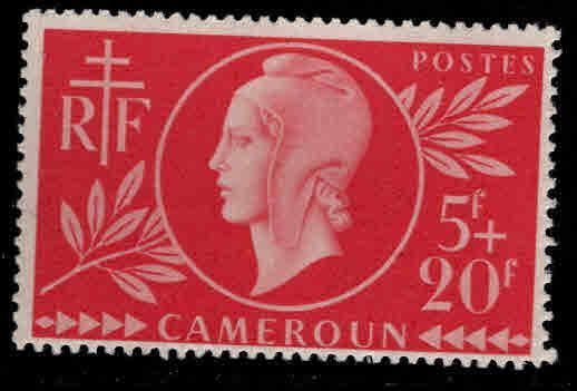 Cameroun Scott B28  MNH** 1944 Red Cross semi-postal stamp