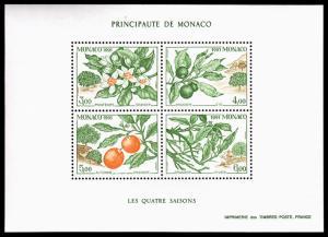Monaco Scott 1775 (1991) Mint NH VF B
