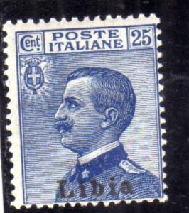 LIBIA 1912 - 1915 SOPRASTAMPATO D'ITALIA ITALY OVERPRINTED CENT. 25c MLH