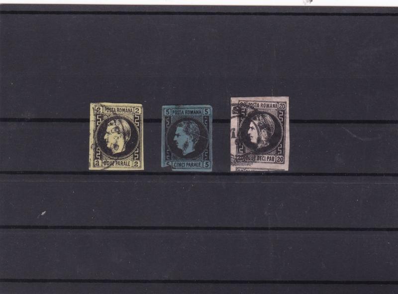 romania 1866  imperf used  stamps cat £1000+ ref 11472