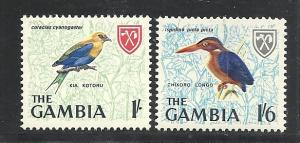 Gambia #182-3 mint cv $10.75 Birds