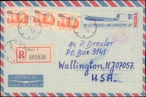Poland, Postal Stationery, Registered