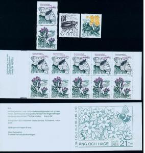 SWEDEN 1623-26, 1624a Conservation. Unexploded Booklet. MNH