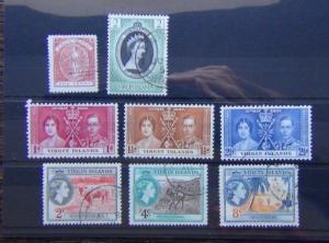 British Virgin Islands 1887 1d Red 1937 Coronation 1953 Coronation
