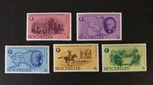 Seychelles 1976 #370-74 MH SCV $1.25
