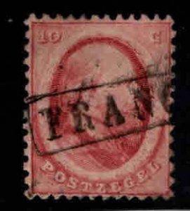 Netherlands Scott 5 used nicely centered stamp FRANCO cancel,