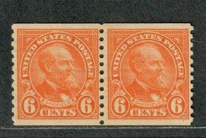 US Sc#723 M/NH/F-VF+, Coil Pair, Cv. $32.50