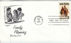 1972, Family Planning, Artmaster, FDC (D14185)