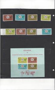 Ghana 204-7a  MNH ITU Centenary Also 204-7 Imperf
