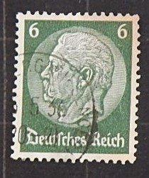 1934, Paul von Hindenburg, Deutsches Reich, 6 Pfg. (2246-T)