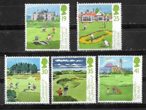 Great Britain # 1567-71 Scottish Golf Courses  (5) Mint NH