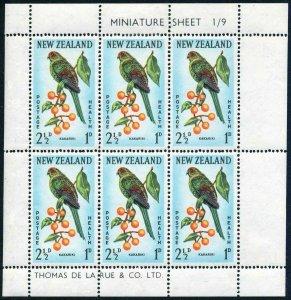 New Zealand B63a-B64a,MNH.Michel 422-423 klb. Red front.parakeet,Sadle-back.1962