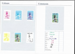 NEVIS 1986 $3 Soccer-Imperforate Proofs in folder