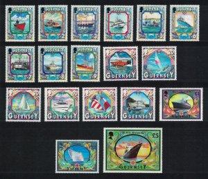 Guernsey Maritime Heritage Ships 18v 1998 MNH SG#785=803