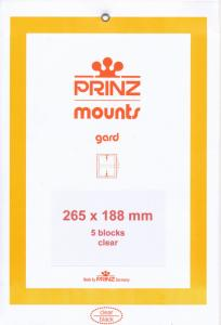 Prinz SCOTT Stamp Mount 188/265 CLEAR Background Pack of 5