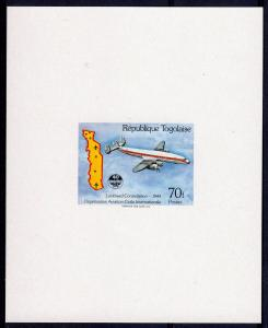 Togo 1984 Sc#1279 ICAO (UN) Aircraft LOCK-HEED CONSTELLATION 1944 DELUXE SS MNH