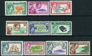 PITCAIRN ISLANDS-1940-51 Set to 2/6 Sg 1-8  MOUNTED MINT V13550