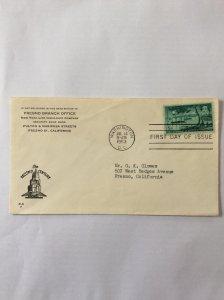 1953 Centennial 5c First day cover. Washington DC post mark to Fresno.