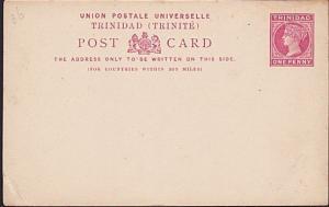 TRINIDAD QV 1d postcard fine unused.........................................5209