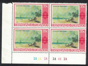 Trinidad and Tobago 'Los Gallos Point' by J Cazabon 1v 35c Corner Block of 4