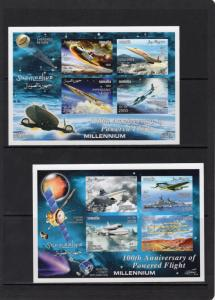 SOMALIA 2003 100th.Anniv.Powered Flight/Space Exploration 4 S/S Imperforated MNH