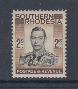 Southern Rhodesia Sc 52 MLH. 1937 2sh KGVI definitive, F-VF