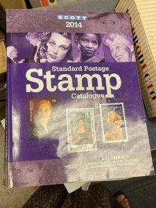 2014 SCOTT STAMP CATALOGS - 6 VOLUMES