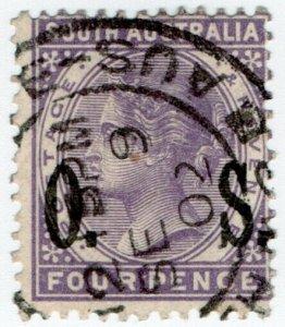 (I.B) Australia Postal : South Australia 4d Official Service (SG O84)