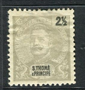PORTUGAL ST.THOMAS PRINCIPE 1898 early Carlos issue Mint hinged 2.5r value