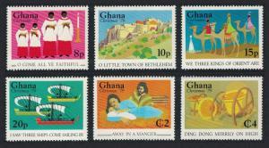 Ghana Christmas Lines and Scenes from Christmas Carols 6v SG#877-882