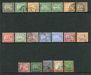 Selangor SG68/85 1935 Set inc extras (15c U/M)