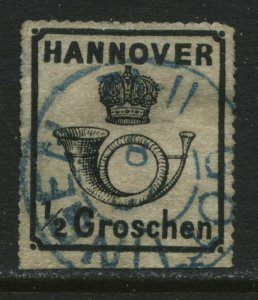 Hannover 1864 1/2 groschen CDS used