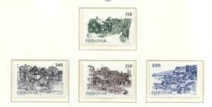 Faroe Islands Sc 59-62 1981 Old Torshaven stamp set mint NH