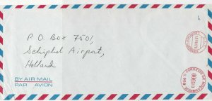 Mozambique 1976 Airmail Ourenco Marques Cancel Meter Mail Stamps Cover Ref 29326