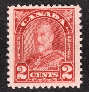 Canada Scott 165 die I  F to VF mint OG NH.