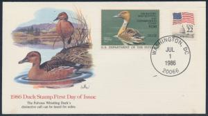 #RW53 ON FIRST DAY COVER CACHET BY FLEETWOOD CV $90 BS9810