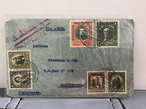 Chile 1932 Air Mail to Manchester stamps cover R31742