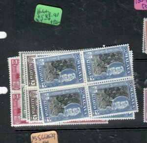MALAYA KELANTAN  (P1606B)  SULTAN SG 83-91  BL OF 4      MNH