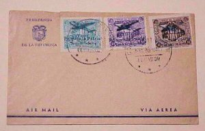 ECUADOR UNLISTED OVERPRINTS in BLUE NOT BLACK on 2 DIFF. 1947 AUG 30 QUITO