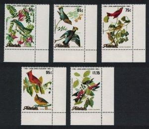 Aitutaki Birds Birth Bicentenary of J. J. Audubon 5v Corners SG#518-522