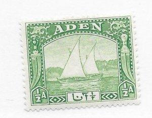 Aden #1 MH - Stamp CAT VALUE $4.50