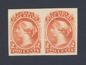 2x Canada  Imperforate Revenue Bill Stamps Pair of #FB19-2c Proof MNG