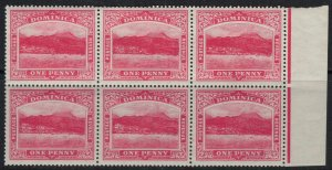 Dominica #51* NH Block of 6  CV $12.00