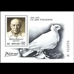 RUSSIA 1981 - Scott# 4993 S/S Picasso NH