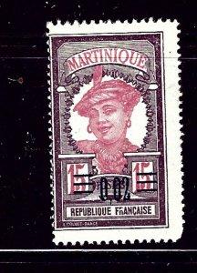 Martinique 109 MH 1922 surcharge
